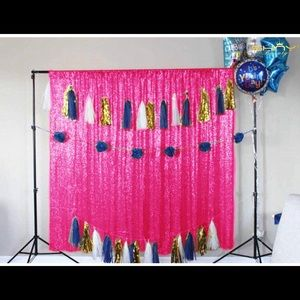 Party pink back drop!